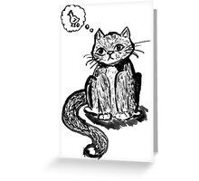 Ink Cat Greeting Card