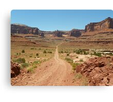 Country Desert Roads with Scenery Canvas Print