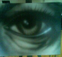 Tired Eye Canvas by GuerillaPest