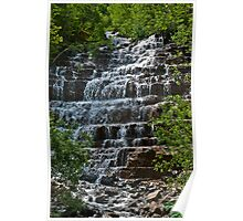 Waterfall near Glacier National Park Poster