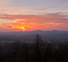 Happy New Year 2011,  Sunrise at Afton Overlook by Mary Jo Taft