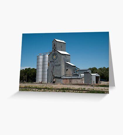 GTA Feeds Elevator, Choteau, Montana Greeting Card