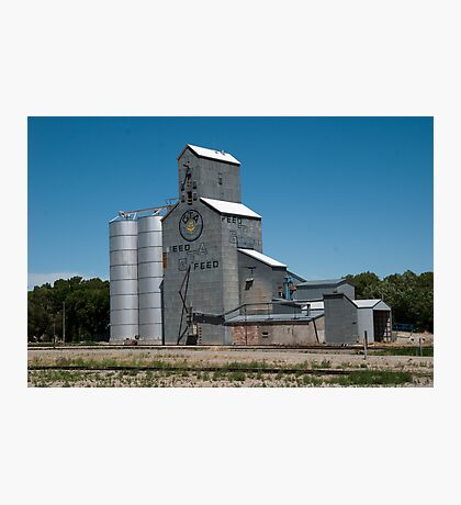 GTA Feeds Elevator, Choteau, Montana Photographic Print