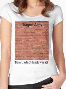 Diagon Alley Entrance Confusion Women's Fitted Scoop T-Shirt