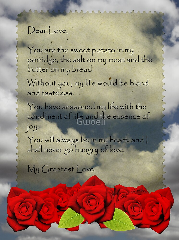 Gastronomical love letter. by Gwoeii