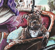 English Staffordshire Bull Terrier by Douglas Rickard