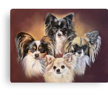 Ozzy, Harry, Ruby, Missy Canvas Print