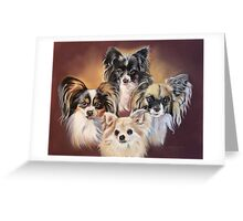 Ozzy, Harry, Ruby, Missy Greeting Card