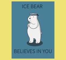 Ice Bear Believes in You Kids Clothes