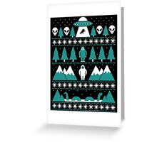Paranormal Christmas Sweater Greeting Card