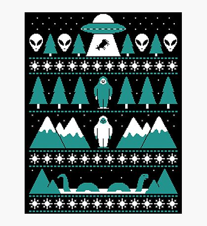 Paranormal Christmas Sweater Photographic Print