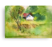 House in the woods 2 Canvas Print