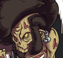 Beware of the Afro Ninja Zombie Sticker
