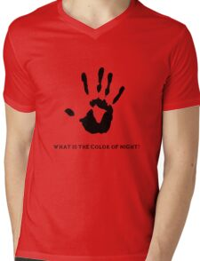 Dark Brotherhood: What is the color of night? Mens V-Neck T-Shirt