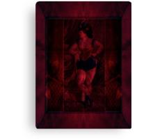 Plush Velvet Showgirl Canvas Print