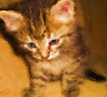 Tiny Kitty. Modern Painting. by Vitta