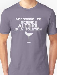 Alcohol is the solution - Cocktail T-Shirt