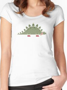 Christmasaurus Women's Fitted Scoop T-Shirt