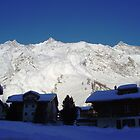 Avalanche, Saas Fee by johnbanchory