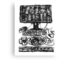 workplace ink drawing Canvas Print