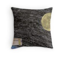 Spaceflight. on the way to the Moon frame 12. Throw Pillow