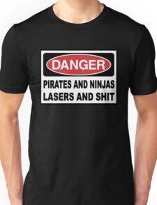 Danger Pirates Ninjas Lasers and Sh*T Unisex T-Shirt