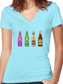 Beer Beer Beer Women's Fitted V-Neck T-Shirt