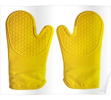 Oven Gloves Yellow Poster
