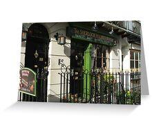 Sherlock Holmes Museum, London Greeting Card