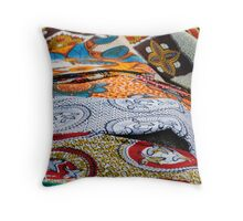 colored fabrics Throw Pillow