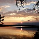 Sunset on Winteringham Lake, NE Sask,Canada by MaeBelle