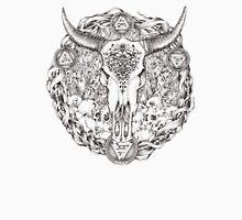Carved Skull - BLack & White Unisex T-Shirt