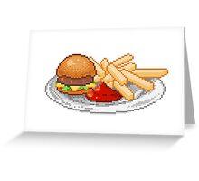 Pixel Burger Greeting Card