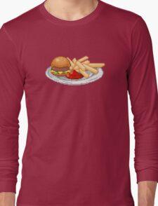Pixel Burger Long Sleeve T-Shirt
