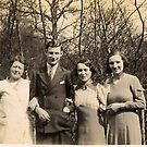 1930s My gran, dad aunt and mum by Woodie