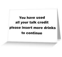 Funny Sarcastic Slogan.  Greeting Card