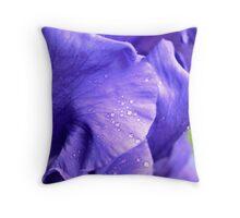 Royal Shades of Iris Throw Pillow
