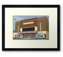 horror show at the embassy Framed Print