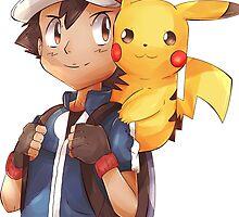 Satoshi & Pikachu | Ash & Pikachu by autobottesla
