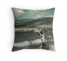 Memories of Childhood Vacations Throw Pillow
