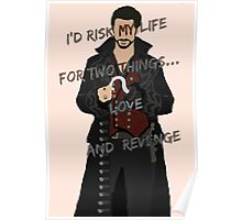 Once Upon A Time Captain Hook/Killian Jones Poster