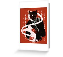 cat loves cats Greeting Card