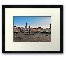 Town Hall in Ceske Budejovice, Czech Republic Framed Print
