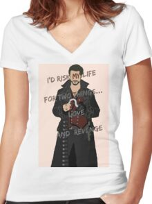 Once Upon A Time Captain Hook/Killian Jones Women's Fitted V-Neck T-Shirt