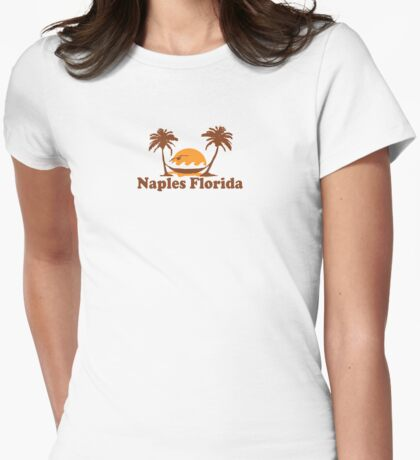 Naples - Florida. Womens Fitted T-Shirt