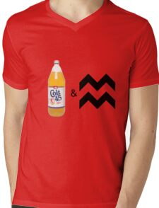 Colt 45 & 2 Zig Zags Mens V-Neck T-Shirt