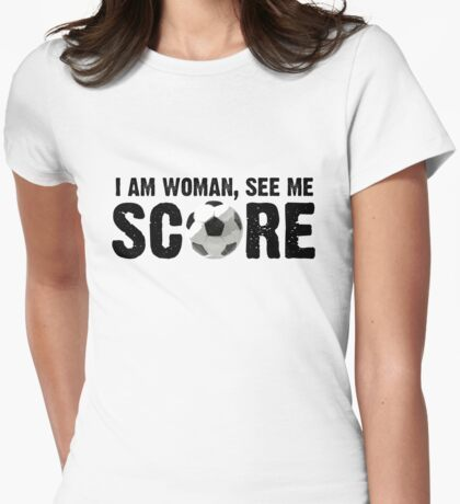 See Me Score - Black Text Womens Fitted T-Shirt