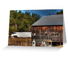 The Barn and Chicken Coop Greeting Card