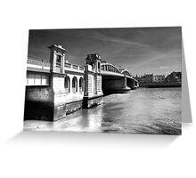 Rochester Bridge (infra red) Greeting Card