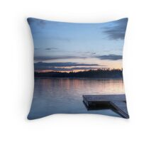 Peaceful Evening - Sunset over Loon Lake Throw Pillow